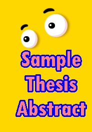 sample thesis abstract