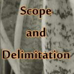 scope and delimitation